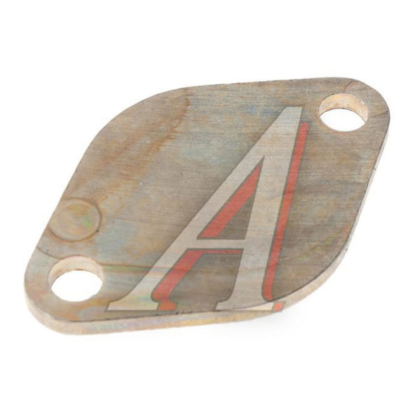 Заглушка (сталь) ромбич. 77х50 2 отв. ф9 блока и картера масляного ЯМЗ
